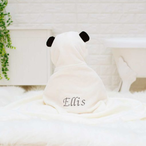 Personalised Little Pumpkin Panda baby bath towel