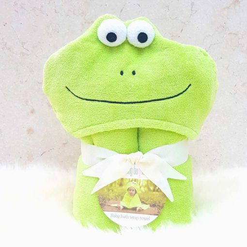 Bubbles the Frog baby towel