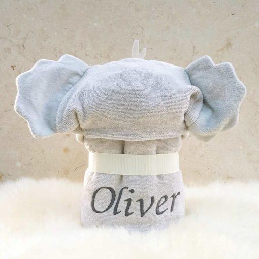 Personalised Cuddles the Koala baby towel